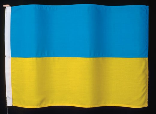 Stock Photo: 1491R-1133240 the flag of Ukraine