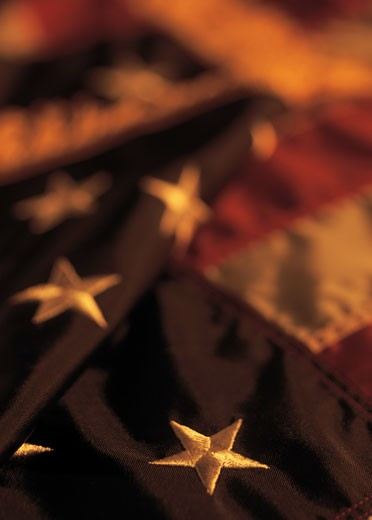 Stock Photo: 1491R-1134433 the flag of the united states of America (blurred)