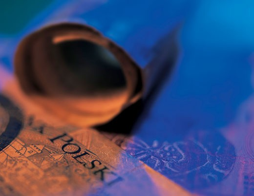 Close-up of bank notes (toned) : Stock Photo