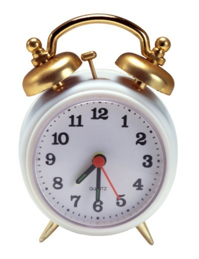 close-up of an ornate alarm clock : Stock Photo