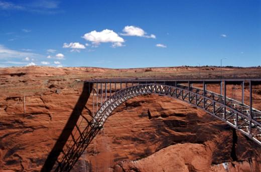 USA, Arizona, View of Navajo Bridge in Grand Canyon National Park : Stock Photo
