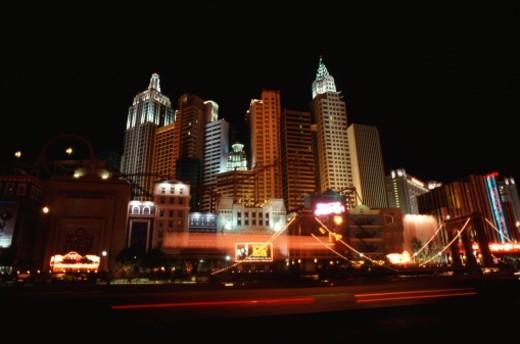USA, Nevada, Las Vegas, Cityscape at night : Stock Photo