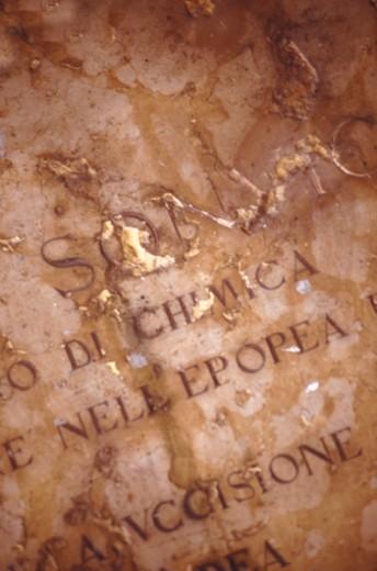 Text on gravestone, full frame  : Stock Photo