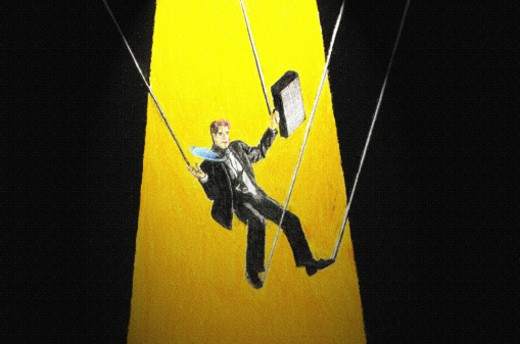 businessman on strings : Stock Photo