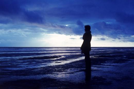 person at sea : Stock Photo