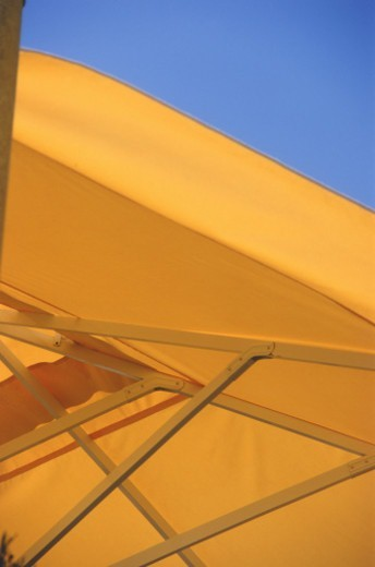 Yellow umbrella, close-up : Stock Photo
