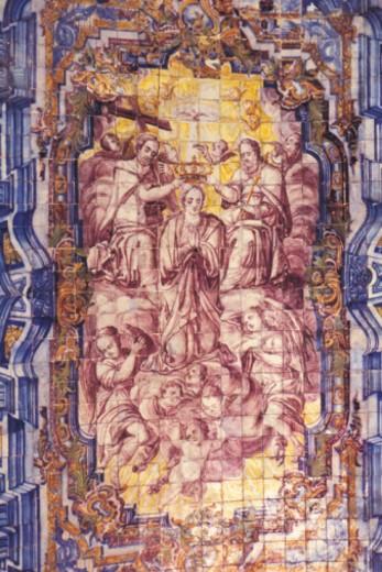 Portuguese tile work, full frame : Stock Photo