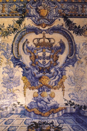 Portuguese tile work, full frame : Stock Photo