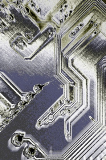 Circuit board, full frame : Stock Photo