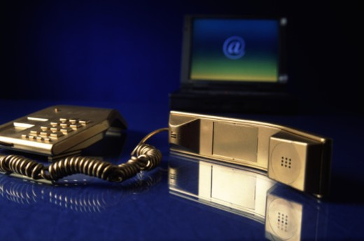 Stock Photo: 1491R-1150872 telephone and internet