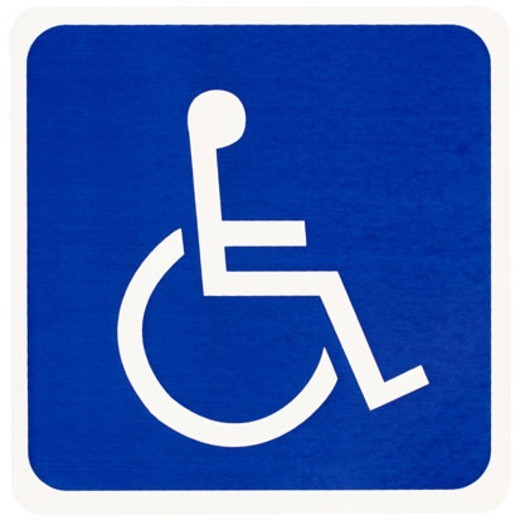 Wheelchair symbol : Stock Photo