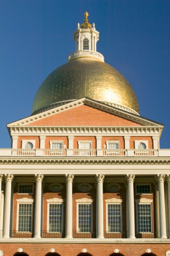 Stock Photo: 1491R-1152546 USA, Massachusetts, Boston, Old State House for Commonwealth of Massachusetts, State Capitol Building