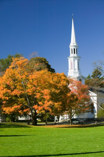 USA, Massachusetts, Presbyterian Church in historical Lexington : Stock Photo