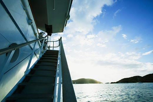 Cruise ship in the sea : Stock Photo