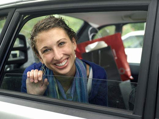 Stock Photo: 1491R-1158371 Teens & Cars