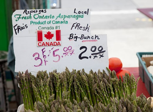 Fresh products for sale at Byward Market : Stock Photo