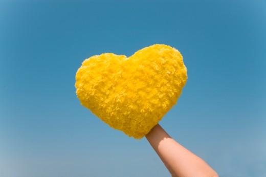Stock Photo: 1491R-1160019 heart shaped cushion