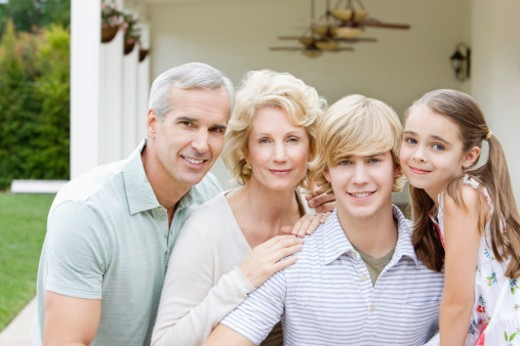 Portrait of Family : Stock Photo