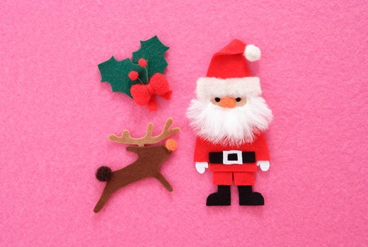 Christmas Ornament of felt, : Stock Photo