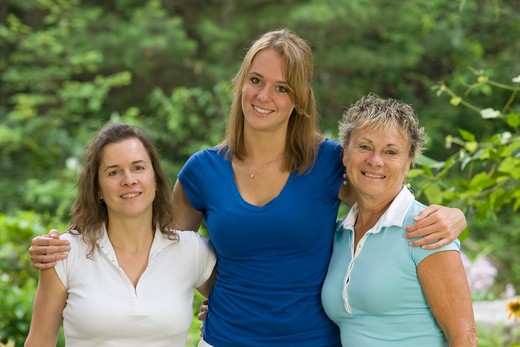 Stock Photo: 1491R-1162022 Mother, Teen daughter and grandmother