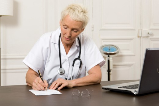 Stock Photo: 1491R-1162787 Female doctor