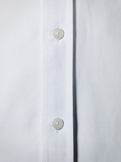 White shirt button detail. : Stock Photo