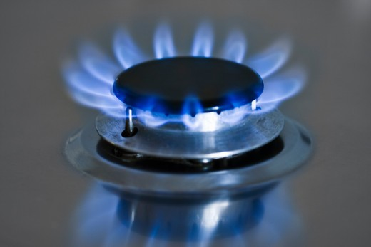 Close-up of gas burner : Stock Photo