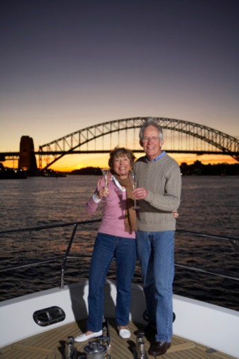 Sunset, Sydney Harbour. : Stock Photo