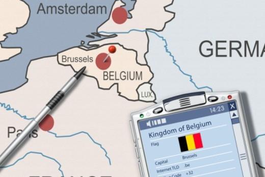 Digital Composite, Belgium : Stock Photo