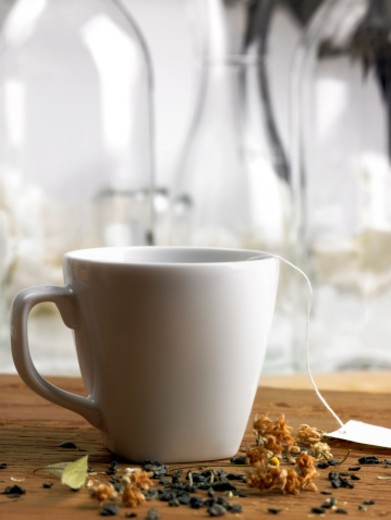 Variety, hot drink, refreshment, herbal tea, dried leaves : Stock Photo
