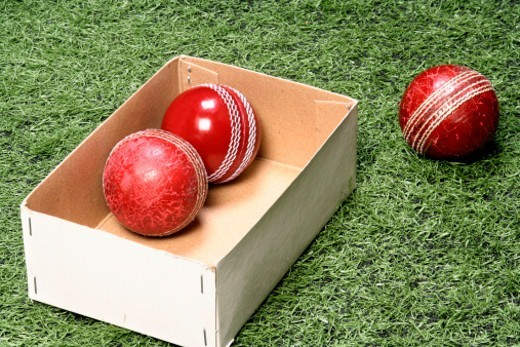 Close-up of Cricket balls : Stock Photo
