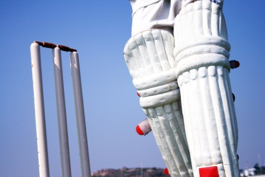 Stock Photo: 1491R-1176576 Partial view of a batsman