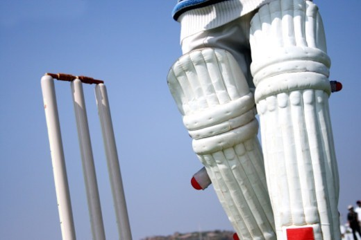 Partial view of a batsman : Stock Photo
