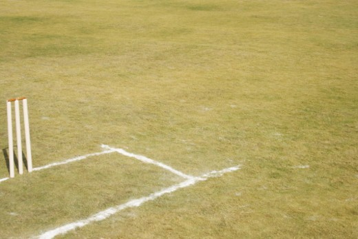 Wickets on the ground : Stock Photo