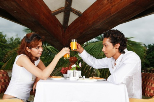 Stock Photo: 1491R-1179393 Couple on a date