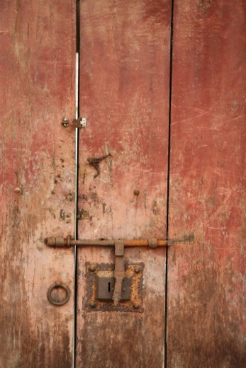 A closed door : Stock Photo
