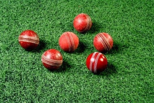 Stock Photo: 1491R-1179850 Close-up of Cricket balls
