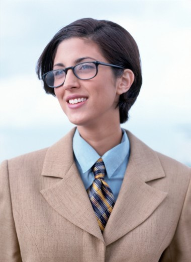 Stock Photo: 1491R-118060 a young business woman