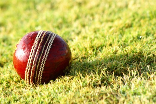 Stock Photo: 1491R-1180861 Close up of a cricket ball
