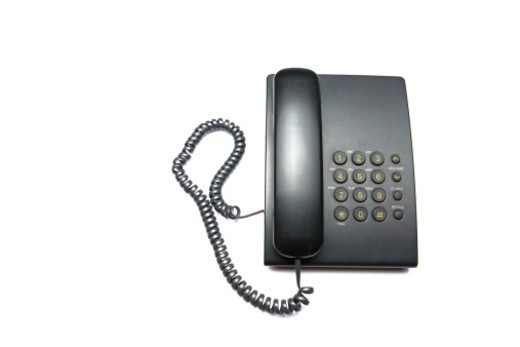 Close up of Landline phone : Stock Photo