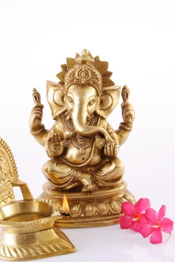 Stock Photo: 1491R-1182436 Statue of Lord Ganesh