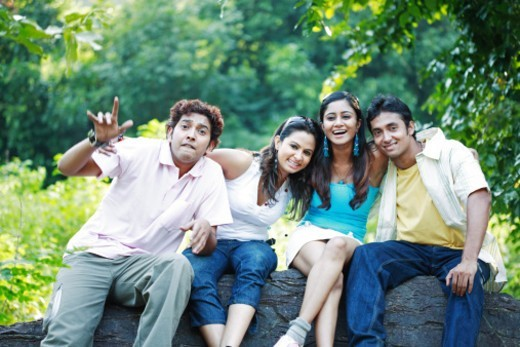 Stock Photo: 1491R-1182991 Portrait of a group of friends