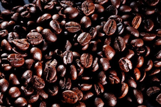 Stock Photo: 1491R-1184079 Close up of coffee beans
