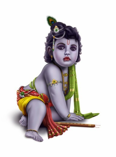 Stock Photo: 1491R-1185081 An illustration of Lord Krishna