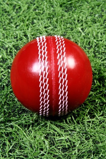 Stock Photo: 1491R-1185991 Close-up of a Cricket ball