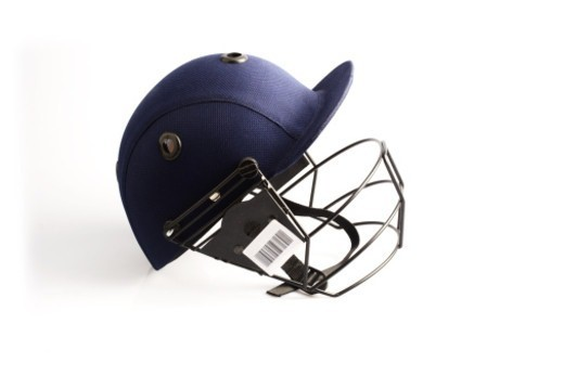 Stock Photo: 1491R-1189663 Close up of a cricket helmet