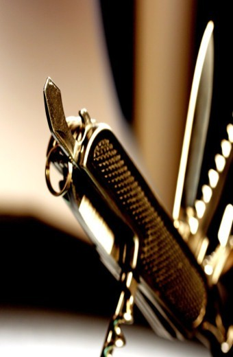 Stock Photo: 1491R-1190678 Close up of a penknife
