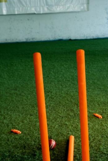 Stock Photo: 1491R-1192100 Cricket stumps