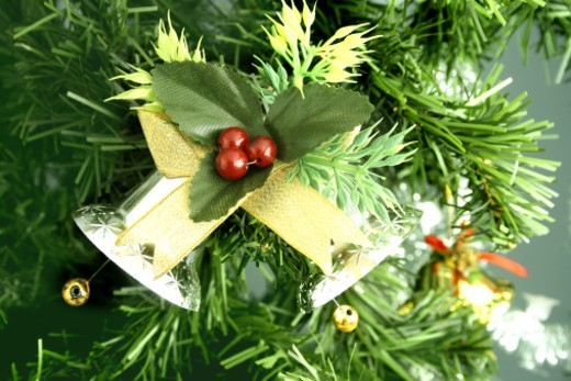 Stock Photo: 1491R-1194863 Decorative ornaments hanging on a tree