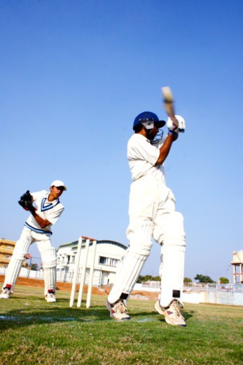 Stock Photo: 1491R-1195724 A batsman playing a shot